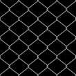Realistic wire chainlink fence seamless vector texture with back — Stock Vector
