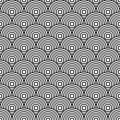 Black and white circles seamless background - Stock Vector