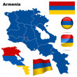 Armenia vector set. — Stock Vector