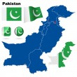 Pakistan vector set. — Stockvector