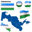 Uzbekistan vector set. — Stock Vector