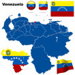 Venezuela vector set. — Stock Vector