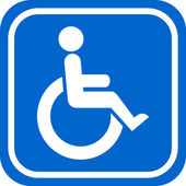 Handicapped person sign — Stockvektor