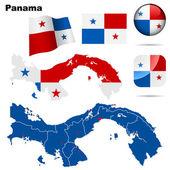 Panama vector set. — Stock Vector