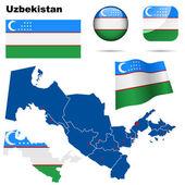 Oezbekistan vector set. — Stockvector