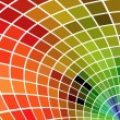 Multicolor mosaic square background. No gradients or effects. — Stockvectorbeeld