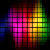 Abstract multicolor spectrum spot mosaic background. — Stock Vector