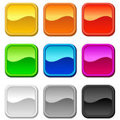 Glossy blank buttons — Stock Vector