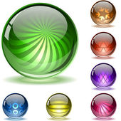 Colorful glossy spheres. — Stock Vector