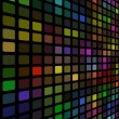 3D disco colored mosaic wall vector background. — Stockvektor