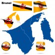 Brunei vector set. - Stock Vector