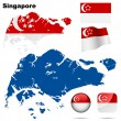 Singapore vector set. — Vettoriale Stock
