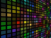 3D disco colored mosaic wall vector background. — Stock Vector