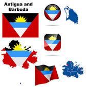 Antigua and Barbuda vector set. — Stock Vector