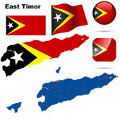 East Timor vector set. — Stock Vector