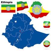 Ethiopia vector set. — Stock Vector