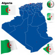 Algeria vector set. — Stock Vector