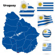 Uruguay vector set. — Stock Vector