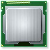 Modern computer core processing unit (CPU) — ストックベクタ