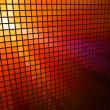 Abstract  red light 3D mosaic horizontal vector background. — Stock Vector