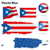 Puerto Rico vector set. — Stock Vector