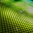 Abstract green 3D mosaic background. — Stock Vector