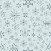 Abstract seamless bluish snowflake vector background. — Stock Vector