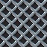 Seamless metal grill with diamond shape pattern vector illustrat — Stock Vector