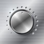 Manopola rotante metallico. — Vettoriale Stock