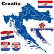 Croatia vector set. — Stock Vector