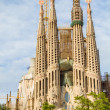 Famous Sagrada Familia cathedral facade in Barcelona, Spain. — Stock Photo