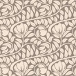 Seamless light beige floral vintage vector pattern. — Stock Vector