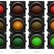 Traffic lights vector template. — Stock Vector #30691371