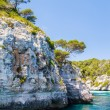 Menorca rocky coast scenery with turquoise water of Mediterranea — Stock Photo