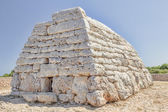 Naveta des Tudons ossuary at Menorca island, Spain. — Stock Photo
