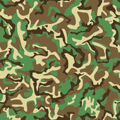 Seamless green, yellow and brown camouflage pattern. — Stock Vector