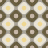 Seamless rounded color diamonds vector wallpaper. — Stock Vector
