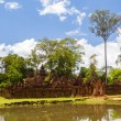 Banteay Srei Temple in sunny day, Siem Reap, Cambodia. — Stock Photo