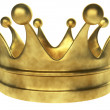 Old golden crown 3D render isolated on white background. — Stock Photo