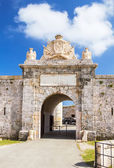 Entrabce gate of La Mola Fortress of Isabel II at Menorca island — Stock Photo