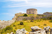 Torre d'en Penjat uncared fort scenery at Menorca, Spain — Stock Photo