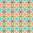Retro color snowflake seamless vector pattern. — Stock Vector