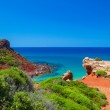 Mediterranean sea view from Menorca island coast at Cala del Pil — Stock Photo #35079835