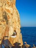 Cova d'en Xoroi bar set within natural caves — Stock Photo