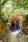 Cova des Coloms - the biggest natural cave at Barranc de Binig — Stock Photo