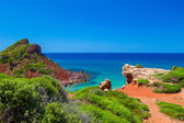 Mediterranean sea view from Menorca island coast at Cala del Pil — Stock Photo