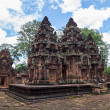 Banteay Srei Temple main structures, Siem Reap, Cambodia. — Stock Photo