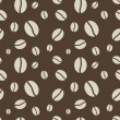 Seamless abstract brown coffee beans vector pattern. — Imagens vectoriais em stock