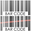 Bar code isolated on white background concept vector illustratio — Vettoriali Stock