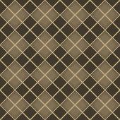 无缝的棕色菱形几何矢量图案. — 图库矢量图片